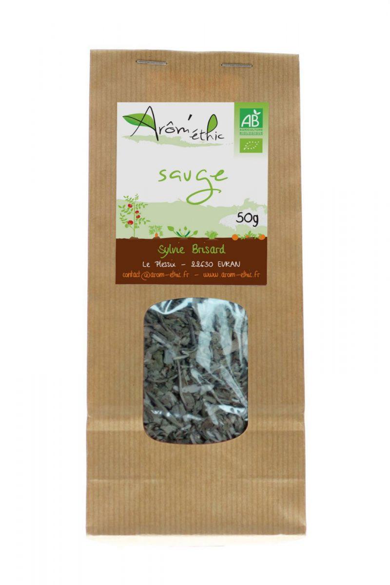 Sachet de Sauge bio effeuillé séché 4.50 € les 50 g