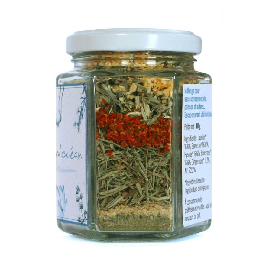Assaisonnement épices herbes aromatiques bio pour poisson