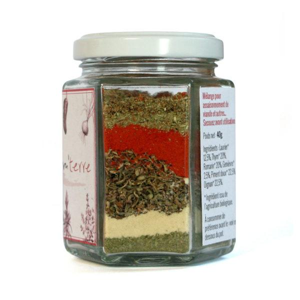 Assaisonnement épices herbes aromatiques bio pour viande